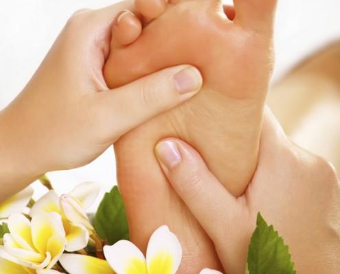 Chinesische Fußreflexzonen-Massage